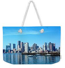 Boston Skyline A Weekender Tote Bag