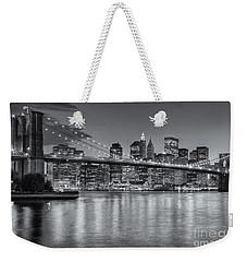 Brooklyn Bridge Twilight II Weekender Tote Bag by Clarence Holmes