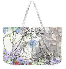 Weekender Tote Bag featuring the painting Celestial Castle by Cathie Richardson