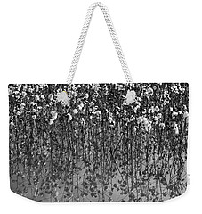 Cotton Abstract In Black And White Weekender Tote Bag