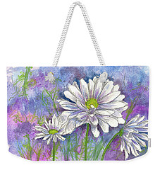 Weekender Tote Bag featuring the painting Daisy Three by Cathie Richardson