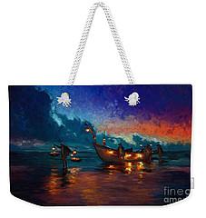 Fishermen Night Fishing Weekender Tote Bag
