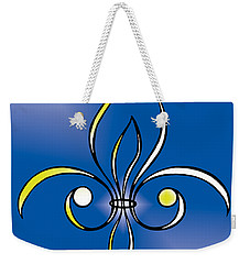Fleur De Lis In Gold Weekender Tote Bag