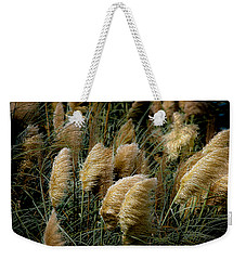 Golden Pampas In The Wind Weekender Tote Bag by DigiArt Diaries by Vicky B Fuller