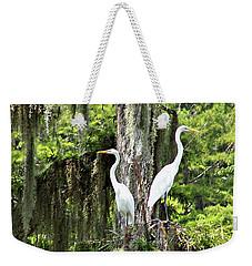 Great White Egrets Weekender Tote Bag