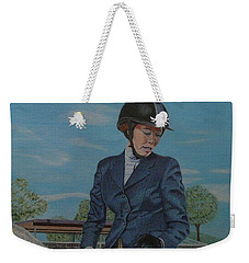 Horseshow Day Weekender Tote Bag by Patricia Barmatz