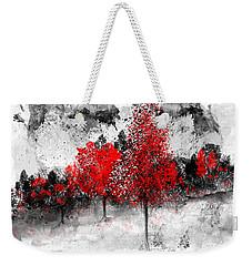 Icy Red Landscape Weekender Tote Bag