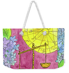 Weekender Tote Bag featuring the painting Libra by Cathie Richardson