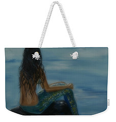 Mermaid Mist Weekender Tote Bag by Leslie Allen