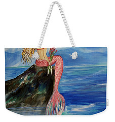 Mermaid Wishes Weekender Tote Bag by Leslie Allen