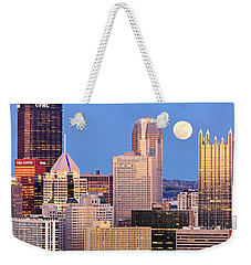 Moon Over Pittsburgh 2 Weekender Tote Bag by Emmanuel Panagiotakis
