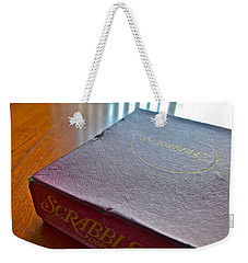 Old Scrabble Game Weekender Tote Bag