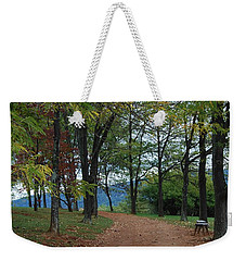 Weekender Tote Bag featuring the photograph Pathway by Eric Liller