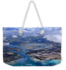 Pearl Harbor Aerial View Weekender Tote Bag by Dan McManus