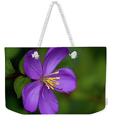 Purple Flower Macro Weekender Tote Bag by Dan McManus