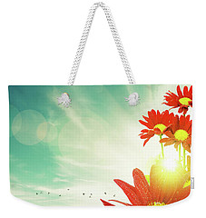 Weekender Tote Bag featuring the photograph Red Flowers Spring by Carlos Caetano
