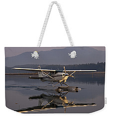 Reflections Of A Float Plane Weekender Tote Bag by Darcy Michaelchuk