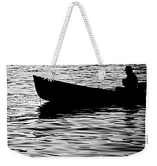 Weekender Tote Bag featuring the photograph The Old Fishermen by Pedro Cardona