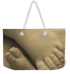 Toes Of Different Size Weekender Tote Bag by Darcy Michaelchuk