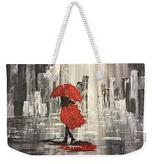 Urban Walk In The Rain Weekender Tote Bag