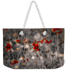 Wildflowers Of The Dunes Weekender Tote Bag by DigiArt Diaries by Vicky B Fuller
