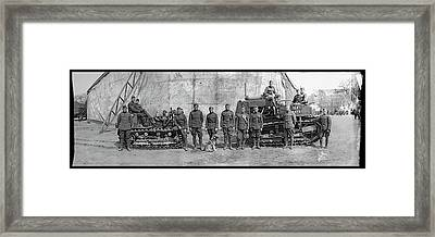 3rd Army Soldiers With Bulldozers Framed Print by Fred Schutz Collection