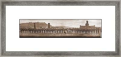 54th Pioneer Infantry Band, Coblenz Framed Print by Fred Schutz Collection
