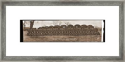 American Troops, 463 Motor Truck Co Framed Print by Fred Schutz Collection