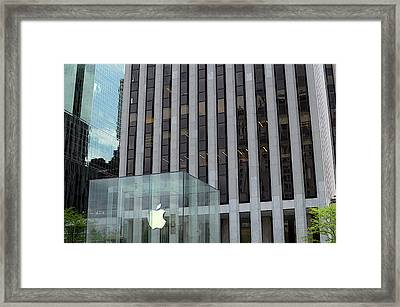 Apple Store In 5th Avenue, Manhattan Framed Print