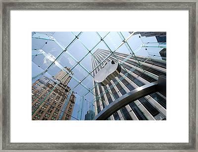 Apple Store In Manhattan Framed Print