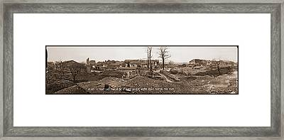 Flirey, A Front Line Town In The St Framed Print