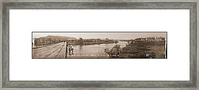 St Mihiel On The River Meuse, Made Framed Print by Fred Schutz Collection