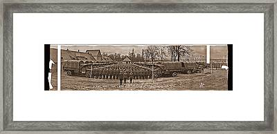 3rd Army Supply Train, And Motor Park Framed Print by Fred Schutz Collection