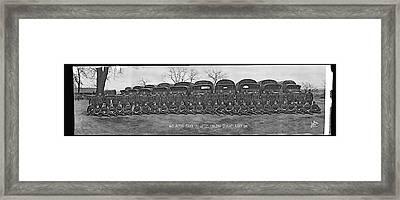 American Troops, 463 Motor Truck Co Framed Print