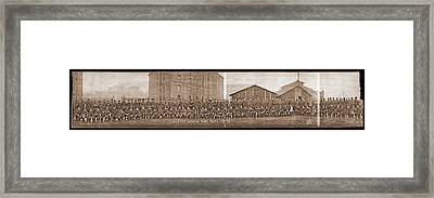 American Troops At Clignancourt Framed Print by Fred Schutz Collection