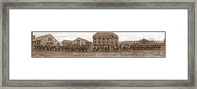 Battery C. 1st Bn. 10th Field Framed Print