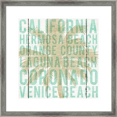 Bon Voyage California Palm Framed Print by Michael Mullan