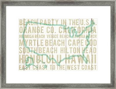Bon Voyage Usa Framed Print by Michael Mullan