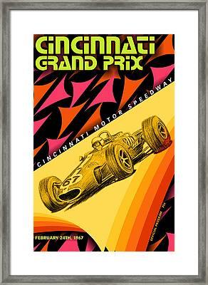 Cincinnati Grand Prix 1967 Framed Print by Georgia Fowler