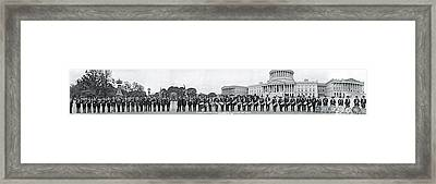 Civil War Musicians Washington Dc Framed Print