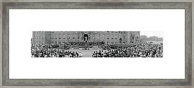 Commencement Georgetown University Framed Print