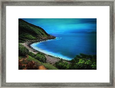 Framed Print featuring the photograph Dreamlike Grass Island by Afrison Ma