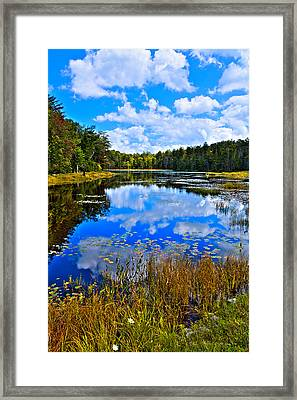 Early Autumn At Fly Pond - Old Forge Ny Framed Print