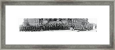 Fire Department Band Washington Dc Framed Print by Fred Schutz Collection