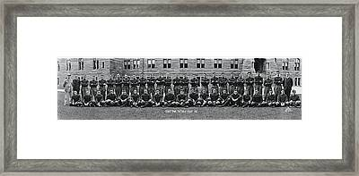 Georgetown U Football Squad Framed Print by Fred Schutz Collection