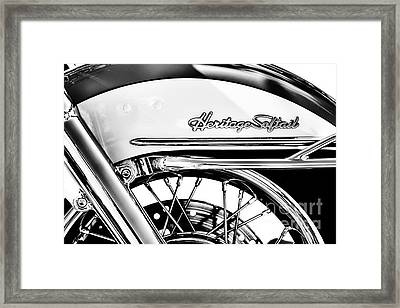Harley Heritage Softail Monochrome Framed Print by Tim Gainey