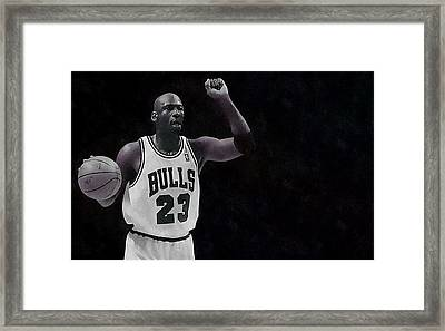 Michael Air Jordan Framed Print