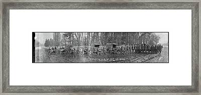 Military Police Camp Auteuil Paris Framed Print