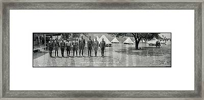 Officers At Camp Newayo, New York State Framed Print