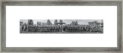 Officers Of The Mobilization Camp Framed Print